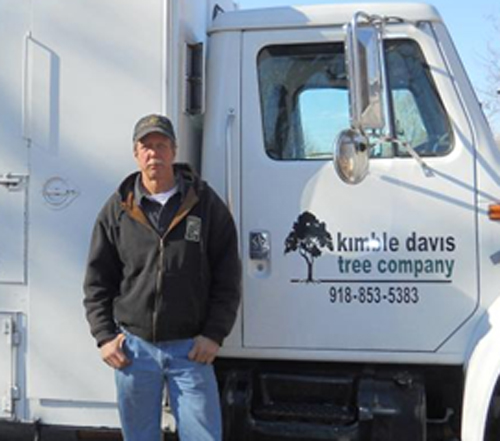 Kimble Davis Tree Co has a state of the art chipper truck